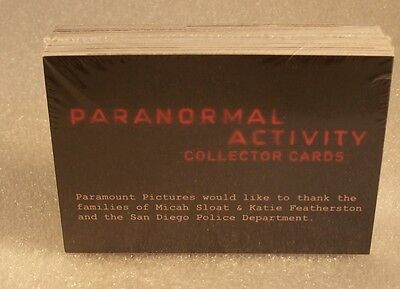 PARANORMAL ACTIVITY    Complete Trading Card Set