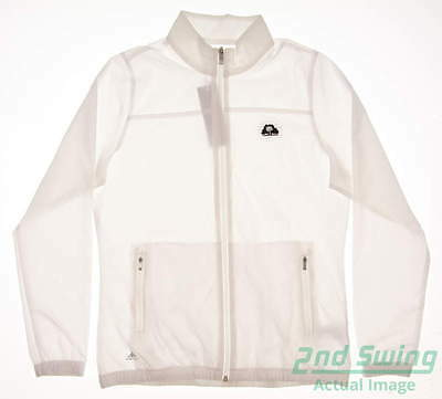 New W/ Logo Womens Adidas Essentials Golf Wind Jacket Medium M White MSRP $65