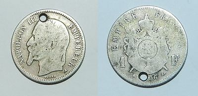France : Old Silver Coin 1866