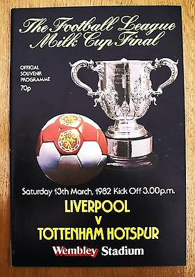 Tottenham Hotspur v Liverpool 1982 League Cup (Milk) Cup Final Programme