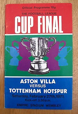 Tottenham Hotspur v Aston Villa 1971 League Cup Final Programme