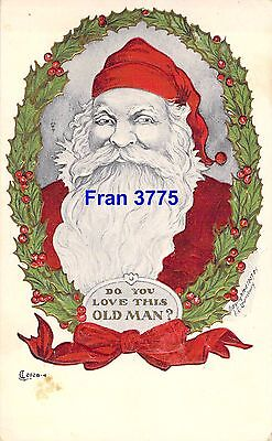 Do You Love This Old Man? Old Time Santa Claus A/S F.C. Lounsbury Postcard 1912