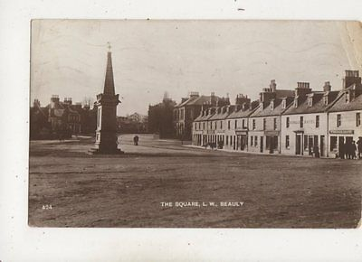 The Square Beauly Inverness-shire 1917 RP Postcard