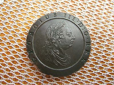 1797 King George Iii Copper Cartwheel Twopence.....very High Grade...........'h.