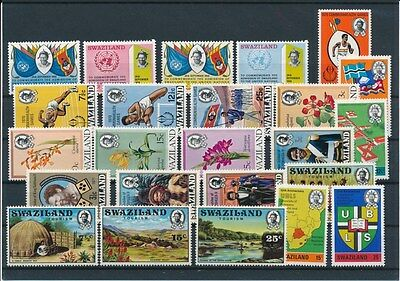 [G94909] Swaziland good lot Very Fine MNH stamps