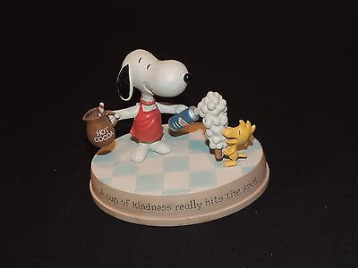 Hallmark 2011 Peanuts Gang Snoopy & Woodstock Figurine A Cup Of Kindness