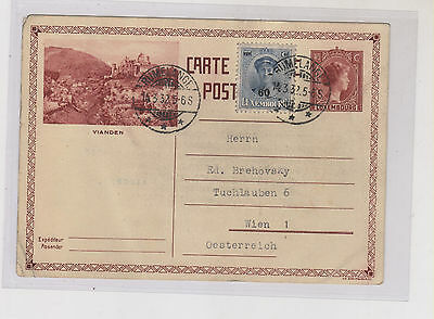 LUXEMBOURG, 1932,postal stationery to Austria