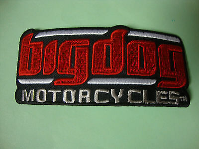 Big Dog Motorcycles Small Signature Jacket Patch Embroidered Chopper Mastiff K-9