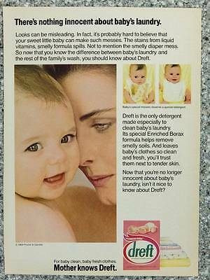 1984 Dreft Laundry Detergent Soap - Vintage Magazine Ad Page - Mom and Cute Baby