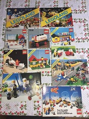 ⭐️ Vintage Lego 7834 7816 6842 6365 6373 1980's Instructions Manuals Booklets ⭐