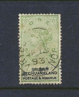 BECHUANALAND 1888, 1sh GREEN & BLACK, VF USED SG#15 SEE BELOW