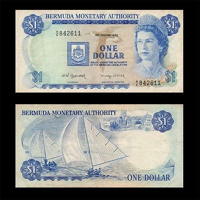 1982 British Colony Bermuda (Qeii) , $1 » Best Note «