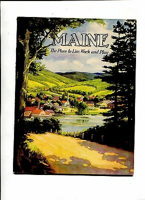Vintage Souvenir Booklet MAINE Place to Live Work & Play 1939 NY Worlds Fair