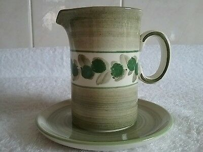 JERSEY POTTERY PLATE and JUG