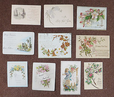 C3729 10 Victorian Greetings Cards: Mixed Subjects