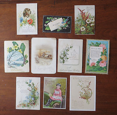 C3830 10 Victorian Greetings Cards: Mixed Subjects