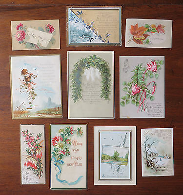 C4030 10 Victorian Greetings Cards: Mixed Subjects
