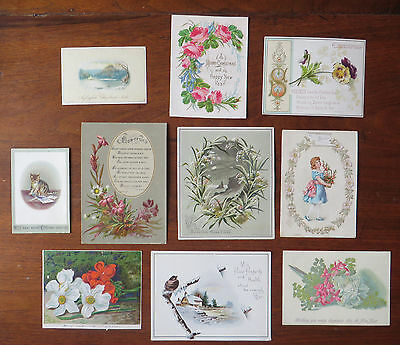 C4027 10 Victorian Greetings Cards: Mixed Subjects