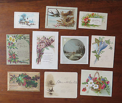 C4029 10 Victorian Greetings Cards: Mixed Subjects