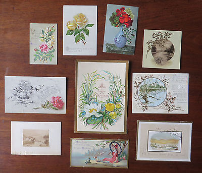 C4228 10 Victorian Greetings Cards: Mixed Subjects