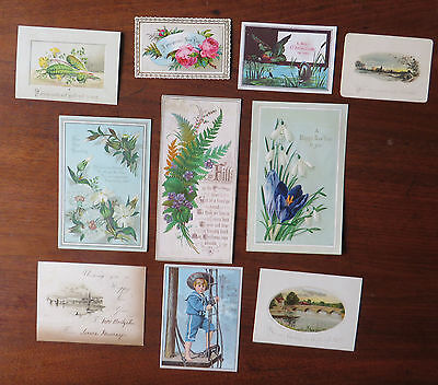 C4227 10 Victorian Greetings Cards: Mixed Subjects