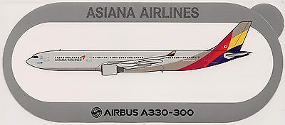 Airbus Sticker ASIANA AIRLINES A330-300 - V2