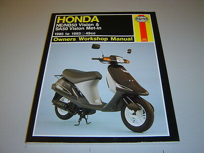 Honda Ne/nb50 Vision & Sa50 Vision Met-In Haynes Manual 1985-1993