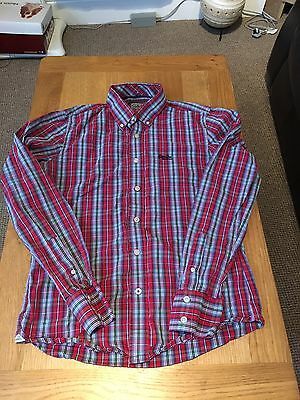 Men's Superdry Long Sleeved Checked Shirt, Size Large, Very Good Condition