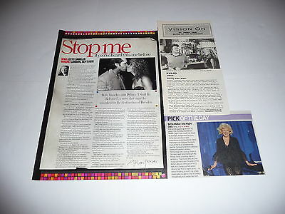 20+ Bette Midler Cuttings/Clippings (2006-17)