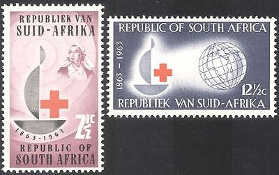 RSA/South Africa 1963 Red Cross 100th/Medical/Health/Welfare/Nurse 2v (n23379)