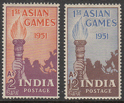 India 1951 First Asian Games Scott #233-234 Mlh White Gum