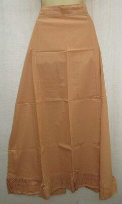 Biscuit Pure Cotton Frill Petticoat Skirts Sari XL Plussize fair shipping #EQH4I