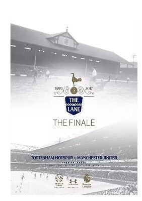 Tottenham Manchester United PROGRAMME Last Game The Lane Finale 14 May 2017 Spur