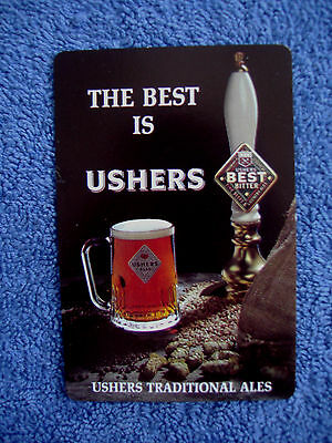 Ushers Bitter Ales ~  Single Swap Playing Card ~ Drinks Advertising