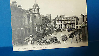 Jersey Channel Islands Postcard Place Royale by Louis Levy LL51 Unused c1905