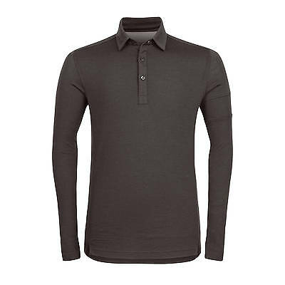 Rapha Long Sleeve Merino Polo - Dark Olive - Xs X-Small
