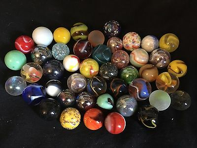 45 x Stunning Colorful Glass Marbles all different - Best collection  free ship