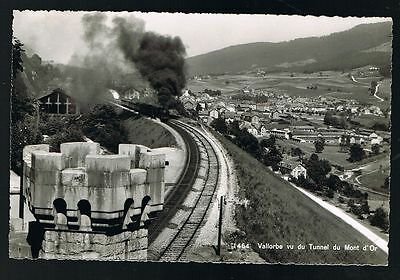 Vallorbe Tunnel Du Mont d'Or, Swiss Train Postcard #8107