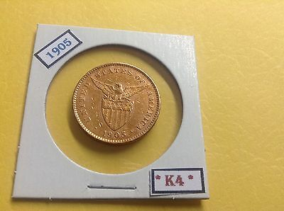 PHILIPPINES COIN 1905 One 1 Centavo US ADMINISTRATION