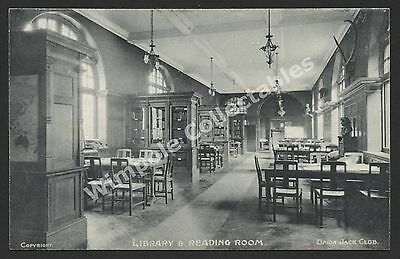 Union Jack Club, Military, Library and Reading Room, c1907, Postcard. (3436)