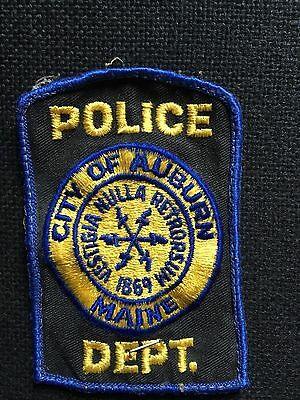 City Of Auburn  Maine Police  Shoulder Patch