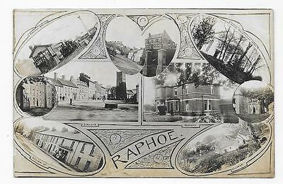 Raphoe, Donegal, Multiview, Railway Station & 9 Other Views, Used 1910, Rp.