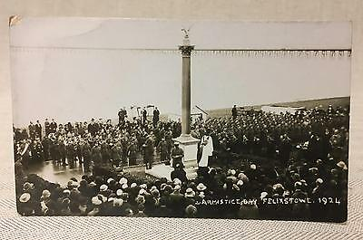 Raf 1924 Armistice Day Felixstowe Old Photographic, Postcard Private Collection