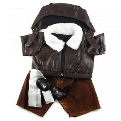 """Pilot Outfit inc hat scarf and goggles teddy clothes fits 15"""" Build a Bear"""