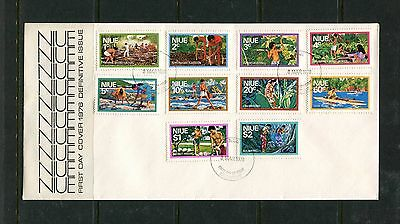 Niue 1976 Definitives FDC (SG198-207)