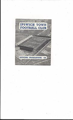 IPSWICH TOWN RESERVES v CARDIFF CITY RESERVES 1958-9 FOOTBALL COMBINATION