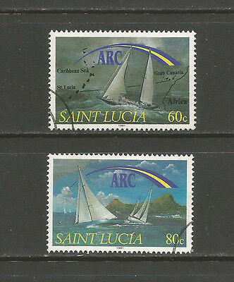 St. Lucia 1991 Atlantic Rally for Cruising Yachts, very fine used set SG 1073-4