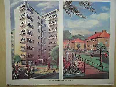 Vintage Macmillan's Poster 1930's New Homes For Old