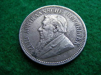 South Africa 1894 Silver 2 1/2 shillings halfcrown
