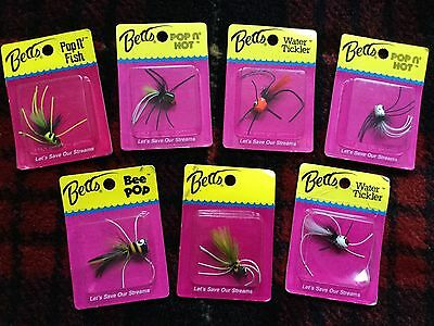 Fly fishing poppers SEVEN OFF for Trout,Pike or sea Fly fishing .